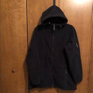 Lands End size xl (18) black fleece jacket